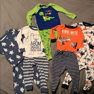 Toddler boy long sleeve PJ bundle